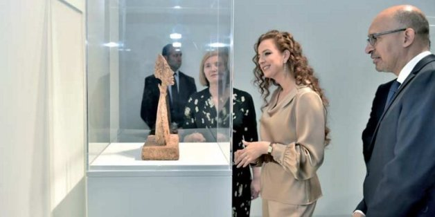 La princesse Lalla Salma inaugure l'exposition Giacometti au MMVI à Rabat