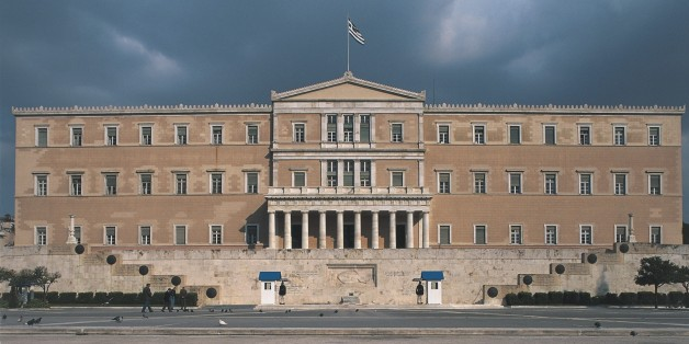Facade of a government building, Parliament Building, Athens, Greece