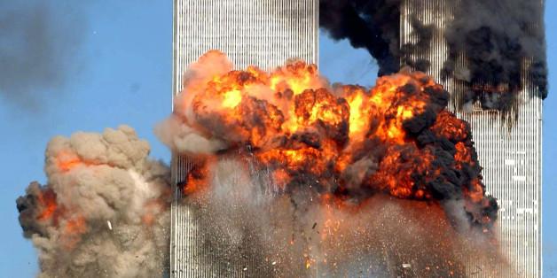 Der Moment, in dem ein entführtes Flugzeug am 11.September 2001 im World Trade Center einschlägt