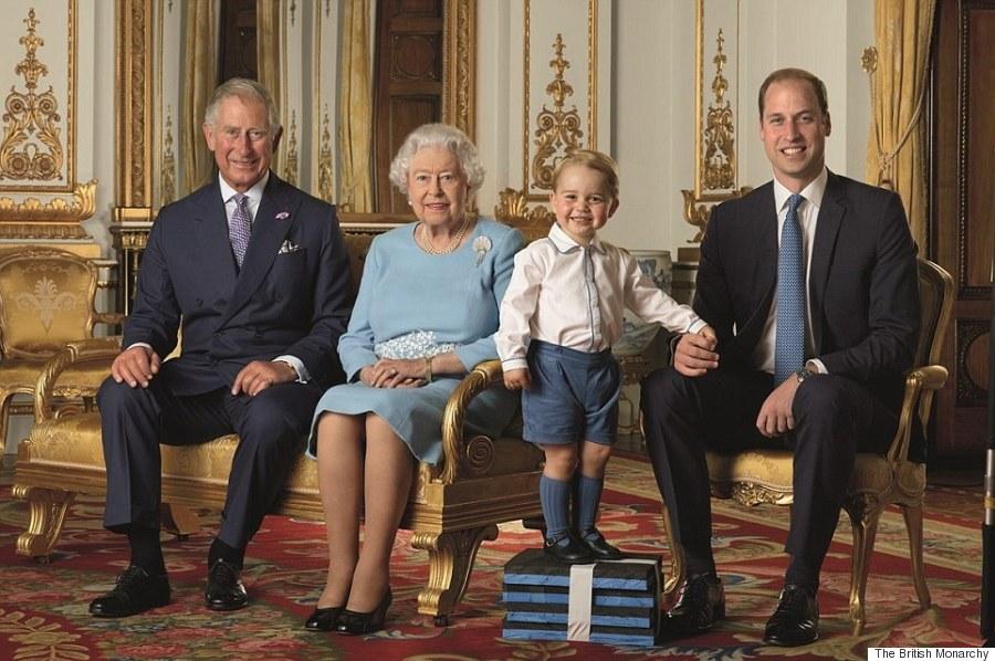 ジョージ王子、エリザベス女王の...