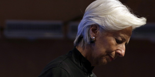 IMF Managing Director Christine Lagarde arrives to speak about strengthening global tax policy at the 2016 IMF World Bank Spring Meeting in Washington April 17, 2016.      REUTERS/Joshua Roberts