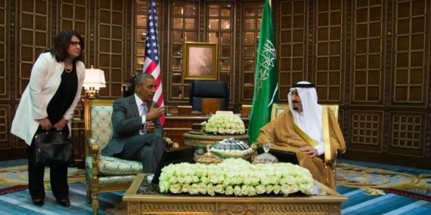 Le président américain Barack Obama et le roi saoudien Salman lors d'une rencontre à Ryad en Arabie saoudite, le 20 avril 2016