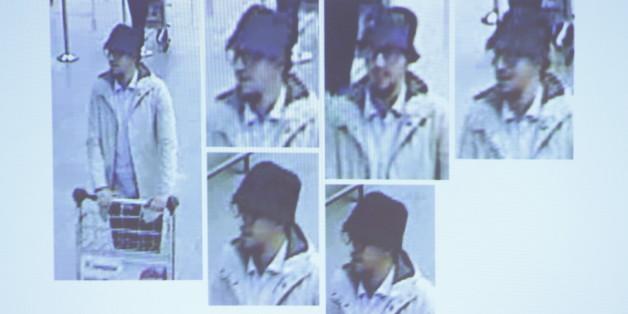 """Der """"Mann mit Hut"""" am Flughafen Zaventem."""