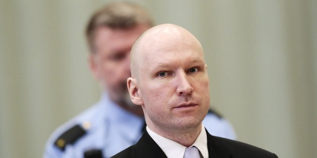Mass killer Anders Behring Breivik is seen on the fourth and last day in court in Skien prison, Norway March 18, 2016. REUTERS/Lise Asreud/NTB scanpix    ATTENTION EDITORS - THIS IMAGE WAS PROVIDED BY A THIRD PARTY. FOR EDITORIAL USE ONLY. NOT FOR SALE FOR MARKETING OR ADVERTISING CAMPAIGNS. THIS PICTURE IS DISTRIBUTED EXACTLY AS RECEIVED BY REUTERS, AS A SERVICE TO CLIENTS. NORWAY OUT. NO COMMERCIAL OR EDITORIAL SALES IN NORWAY. NO COMMERCIAL SALES.