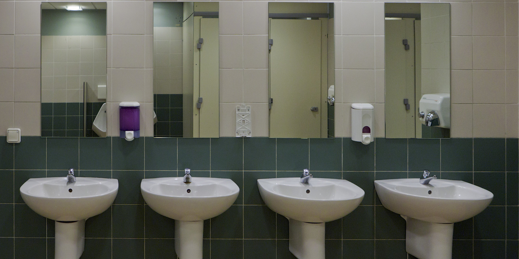 The unlikely place i found body acceptance huffpost for Public bathroom sink