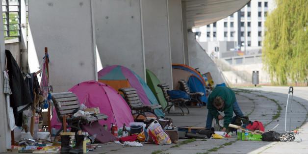 Merkels Obdachlose: Mitten im Regierungsviertel entsteht ein Mini-Slum