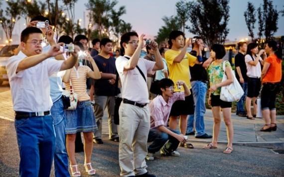 touristes photos
