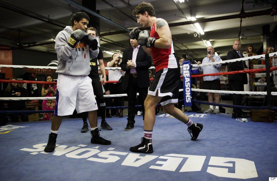 trudeau boxing
