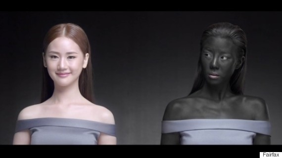 skin whitening advertisement