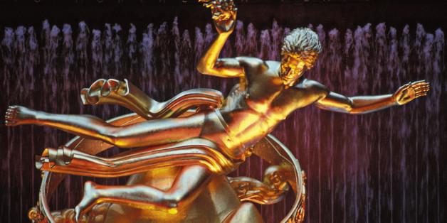 Prometheus Statue at Rockefeller Center in New York City