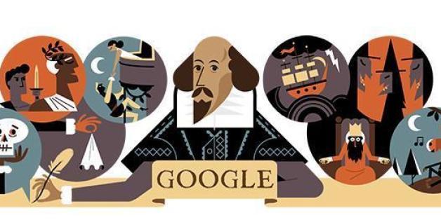 Google erinnert an Shakespeares Tod mit einem Doodle