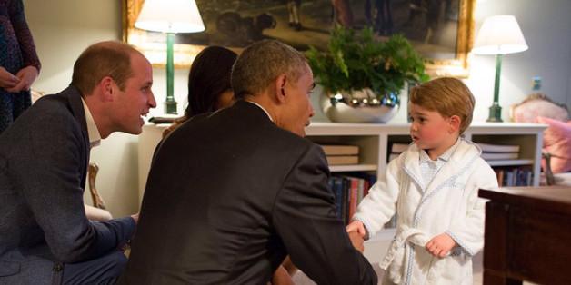 Präsident Obama trifft Prinz George