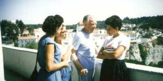 le Docteur Masseboeuf et ses filles à Constantine en 1985 quelque temps avant son décès
