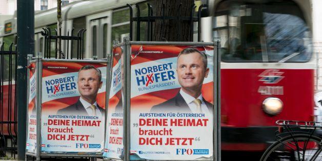 Wahlplakate in Österrreich