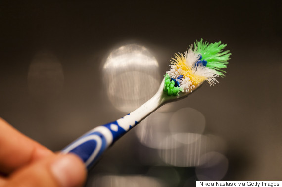 old toothbrush