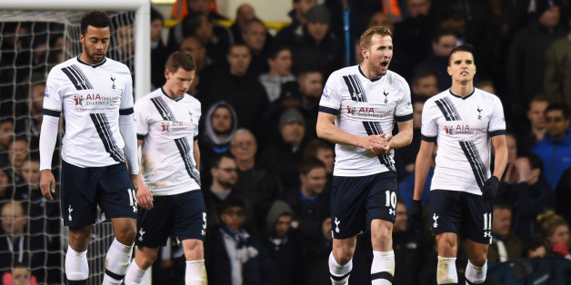 """Football Soccer - Tottenham Hotspur v West Bromwich Albion - Barclays Premier League - White Hart Lane - 25/4/16Tottenham's Mousa Dembele, Jan Vertonghen, Harry Kane and Erik Lamela look dejected after West Brom's first goalAction Images via Reuters / Tony O'BrienLivepicEDITORIAL USE ONLY. No use with unauthorized audio, video, data, fixture lists, club/league logos or """"live"""" services. Online in-match use limited to 45 images, no video emulation. No use in betting, games or single club/league/pl"""