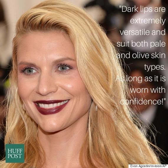 claire danes dark lipstick