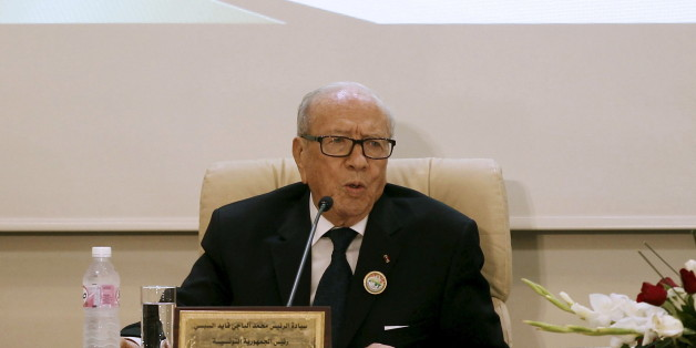Tunisian President Beji Caid Essebsi speaks during at the 33rd session of the Council of Arab Interior Ministers in Tunis, Tunisia, March 2, 2016. REUTERS/Zoubeir Souissi
