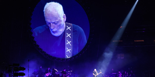 David Gilmour während eines Auftritts in New York.
