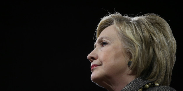 PHILADELPHIA, PA - APRIL 26:  Democratic presidential candidate Hillary Clinton looks on during her primary night gathering at the Philadelphia Convention Center on April 26, 2016 in Philadelphia, Pennsylvania. Clinton defeated her democratic rival Sen. Bernie Sanders (D-VT)  in the Pennsylvania presidential primary.  (Photo by Justin Sullivan/Getty Images)