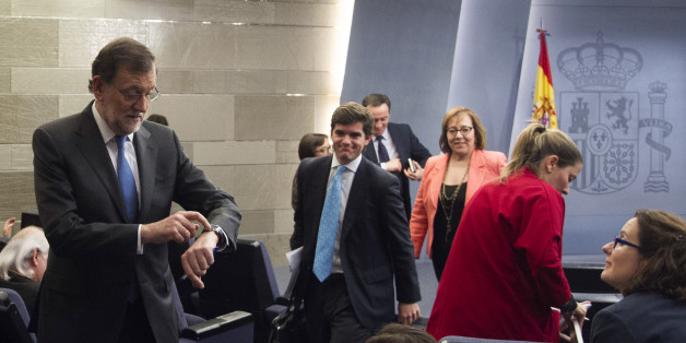 Mariano Rajoy a abrégé une conférence de presse pour regarder Manchester City- Real Madrid