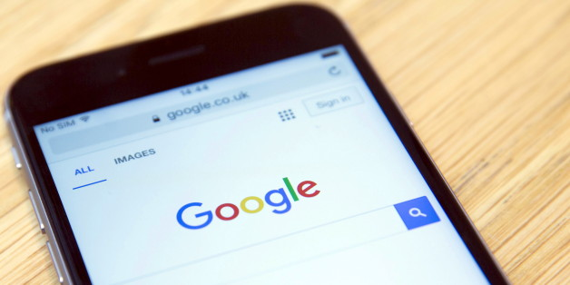 """The Google internet homepage is displayed on a product at a store in London, Britain January 23, 2016. Google has agreed to pay 130 million pounds ($185 million) in back taxes to Britain, prompting criticism from opposition lawmakers and campaigners who said the """"derisory"""" figure smacked of a """"sweetheart deal"""".    REUTERS/Neil Hall"""