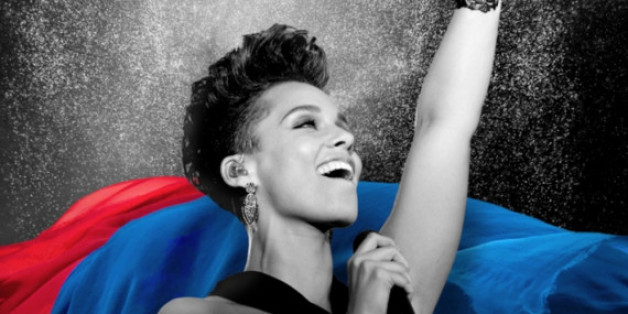 Mit diesem Plakat wird der Auftritt von Alicia Keys beworben