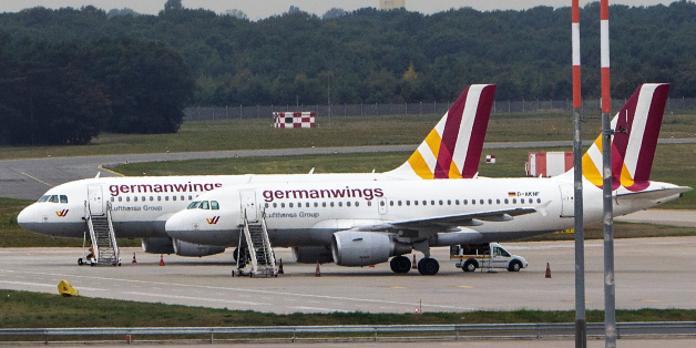 BERLIN, GERMANY - AUGUST 29:  A general view of parked Germanwings planes during a nationwide 6-hour strike by Germanwings pilots at Tegel Airport that grounded 116 flights on August 29, 2014 in Berlin, Germany. The pilots, through the VC labour union, are demanding that Lufthansa, which owns Germanwings, not do away with an early retirement program that allows the pilots to stop working at the age of 55 and still get half their salary until their full retirement.  (Photo by Carsten Koall/Getty