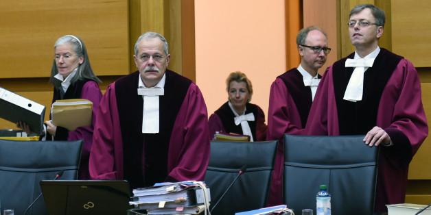 Die Richter des Bundesverwaltungsgerichts unter Vorsitz von Uwe-Dietmar Berlit (2.v.l.)