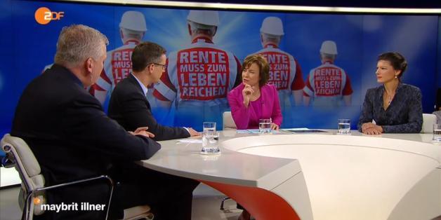"""Sahra Wagenknecht kritisierte bei """"Maybrit Illner"""" die Riester-Rente scharf"""
