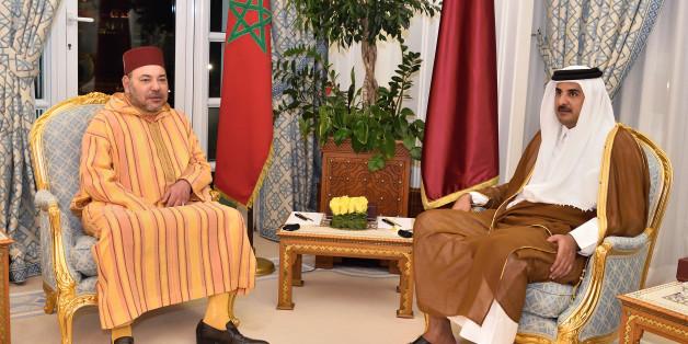 Le Roi Mohammed VI et l'Emir du Qatar, en avril 2016 lors d'une visite royale au Qatar