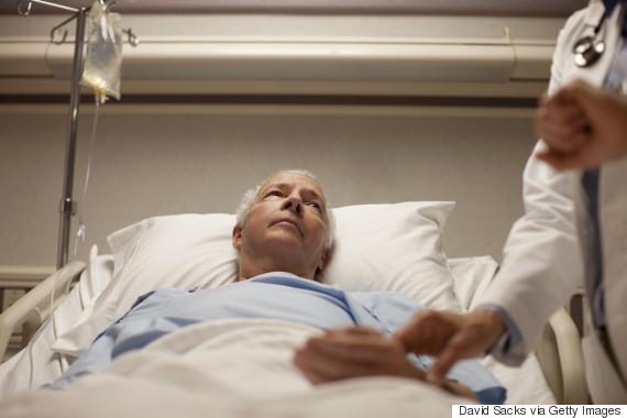 middle age man hospital