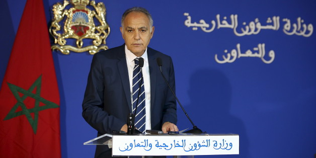 "Moroccan Foreign Minister Salaheddine Mezouar speaks during a news conference on a dispute with the United Nations, at the Foreign Ministry in Rabat, March 24, 2016. Dozens of U.N. staffers pulled out of the Western Sahara mission, known as MINURSO, on Sunday after Morocco demanded they leave because U.N. Secretary-General Ban Ki-moon used the term ""occupation"" during a visit to the region. REUTERS/Youssef Boudlal"