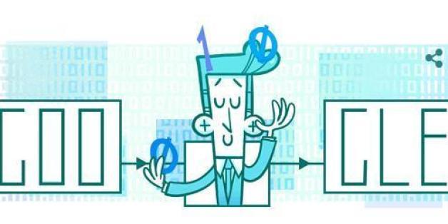 Claude Shannons Geburtstag wird heute mit einem Google Doodle gefeiert