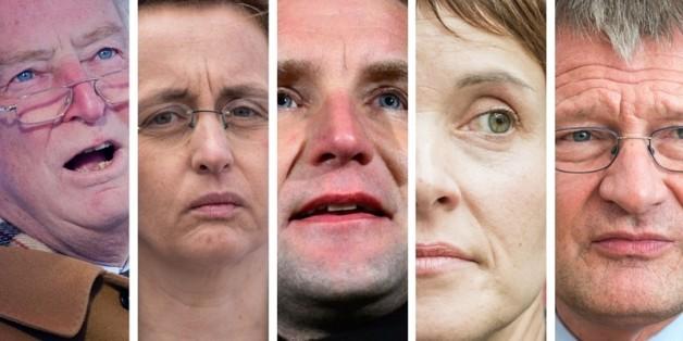 Gauland, Höcke und Petry (von links) beim beim Treffen der AfD-Landesfraktionen in Sachsen