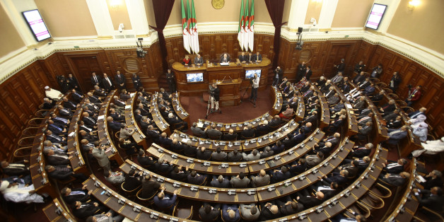 A general view of the upper parliament chamber is pictured in Algiers, Algeria February 2, 2016. Algeria's parliament will vote on February 7, 2016 for the new constitution that could be President Abdelaziz Bouteflika's final farewell stage after consolidating power and removing the army from political sphere. Picture taken February 2, 2016. REUTERS/Ramzi Boudina