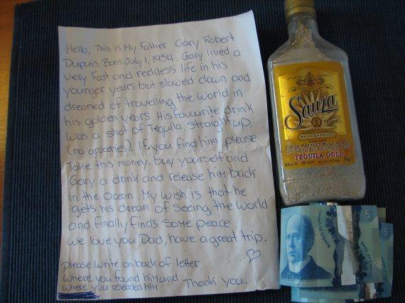 gary dupuis message bottle