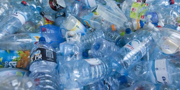 Plastic bottles for recycling, Tel Aviv, Israel