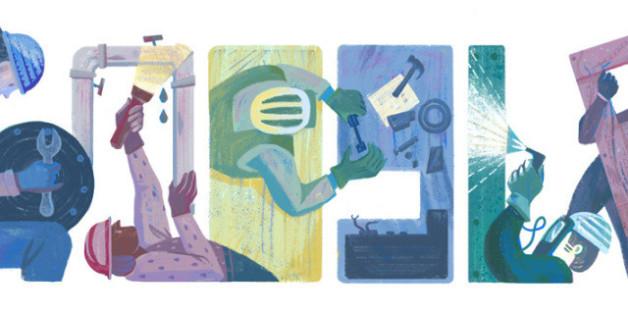 Am 1. Mai gibt es ein Google-Doodle zum Tag der Arbeit