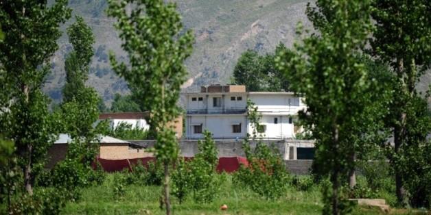 Une photo prise le 2 mai 2011 de la maison où se cachait Oussama Ben Laden à Abbottabad au Pakistan