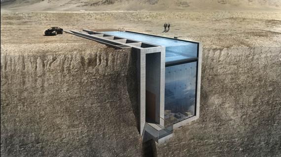 maison flanc falaise
