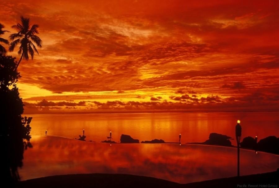 tramonto aitutaki