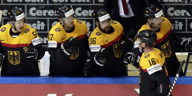 Die deutsche Eishockey-Mannschaft will heute gegen die Schweiz jubeln