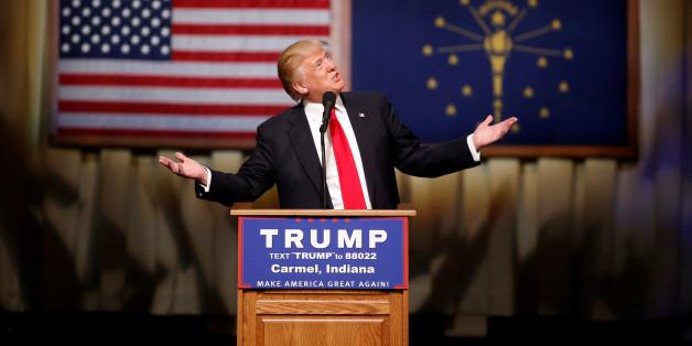 Der US-Präsidentschaftskandidat Donald Trump während der Vorwahlen in Indiana