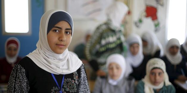 Das syrische Flüchtlingsmädchen Omayma al Hushan, 14, in einem Camp in der jordanischen Stadt Mafraq