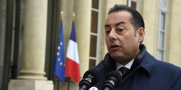 Socialists & Democrats (S&D) Group with S&D President Gianni Pittella (L) speaks to journalists after a meeting with France's President at the Elysee palace on October 21, 2015 in Paris.   AFP PHOTO / DOMINIQUE FAGET        (Photo credit should read DOMINIQUE FAGET/AFP/Getty Images)