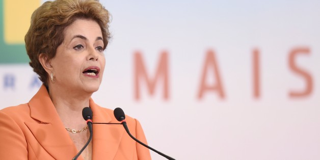 Brazilian President Dilma Rousseff delivers a speech during the launching of the Agricultural and Livestock Plan for 2016/2017, at Planalto Palace in Brasilia, on May 4, 2016.