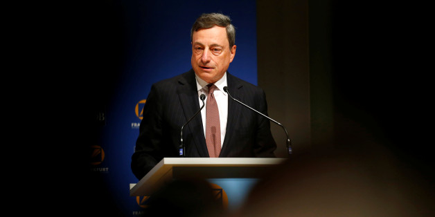 Mario Draghi, President of the European Central Bank (ECB) attends the 49th annual meeting of the Asian Development Bank (ADB) in Frankfurt, Germany May 2, 2016. REUTERS/Ralph Orlowski