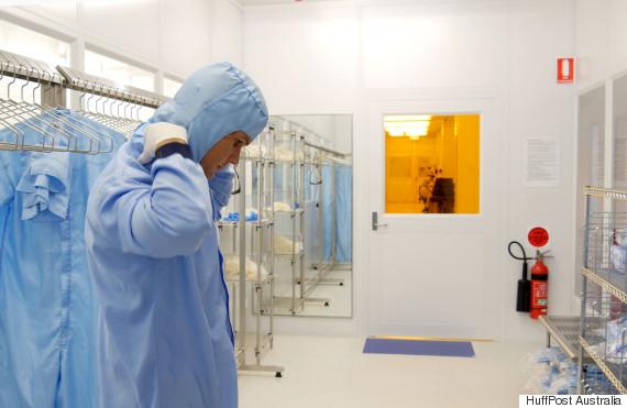 sydney nanoscience clean room suit dave reilly
