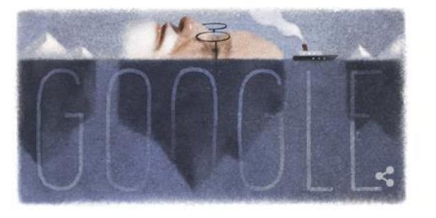 Google ehrt den Begründer der Psychoanalyse Sigmund Freud mit einem Doodle